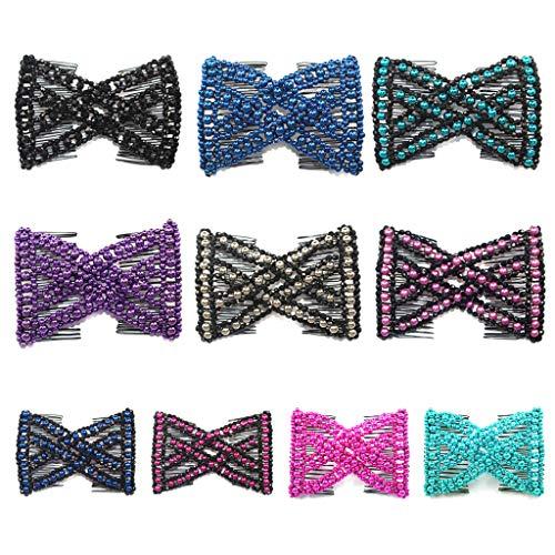 CADANIA Magic haarkam EZ parels dubbel rekbaar delicate elastische vrouwen clips kapsel