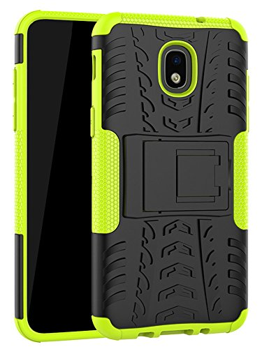 Galaxy J7 Refine Case,J7 V 2018,Galaxy J7 Top,J7 Crown,J7 Aero,J7 Aura,J7 Eon,J7 Star Case, Yiakeng Shockproof Protective with Kickstand Phone Cases for Samsung J737V,J737T (Green)