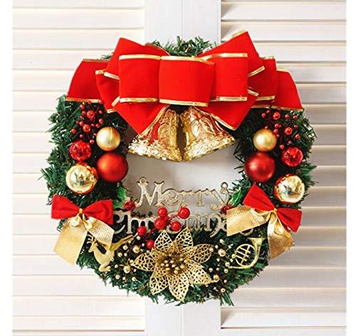 Ungfu Mall 30cm Red Plastic Christmas Wreath Anello Tree Home Decorativo Fiore Anello (Corona di Natale)