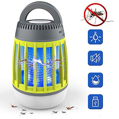 ZRK LED Camping Laterne MosquitoTent Light Moskito-Mörder-Lampe, leichte IP67 wasserdicht und USB wiederaufladbar, Insektenschutzmittel, Outdoor Grün + Grau