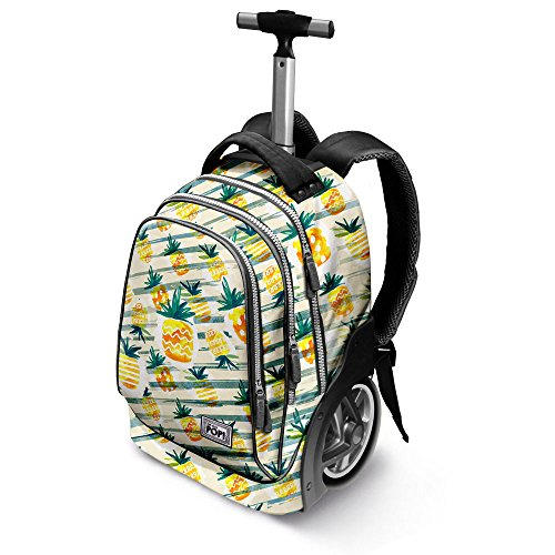 Oh My Pop Pop! Ananas-GT Travel Trolley Backpack Rucksack, 51 cm, 42 liters, Gelb (Yellow)