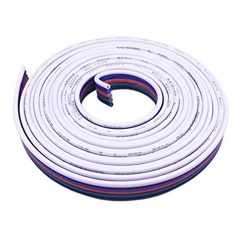 LitaElek 5-polig 20m RGBW LED Streifen Verlängerungskabel Verbinder LED Stripe Verbindungskabel Schnellverbinder für RGBW 5050 LED Strip LED Band,für 5 polig Osram Lightify LED Streifen Erweiterung
