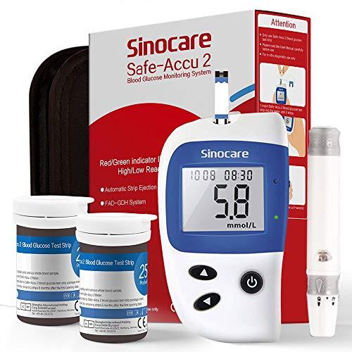 Glucosa en sangre kit de control de la diabetes kit Safe Accu2 de prueba de azúcar en sangre kit Pack 50 tiras para diabéticos-en mg/dL