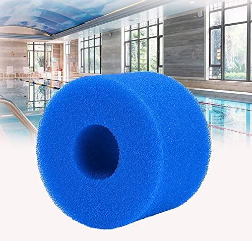 Esponja de cartucho de filtro tipo S1, filtro de spa, filtro de piscina para Intex tipo S1, esponja de filtro de piscina, color azul (6 unidades)