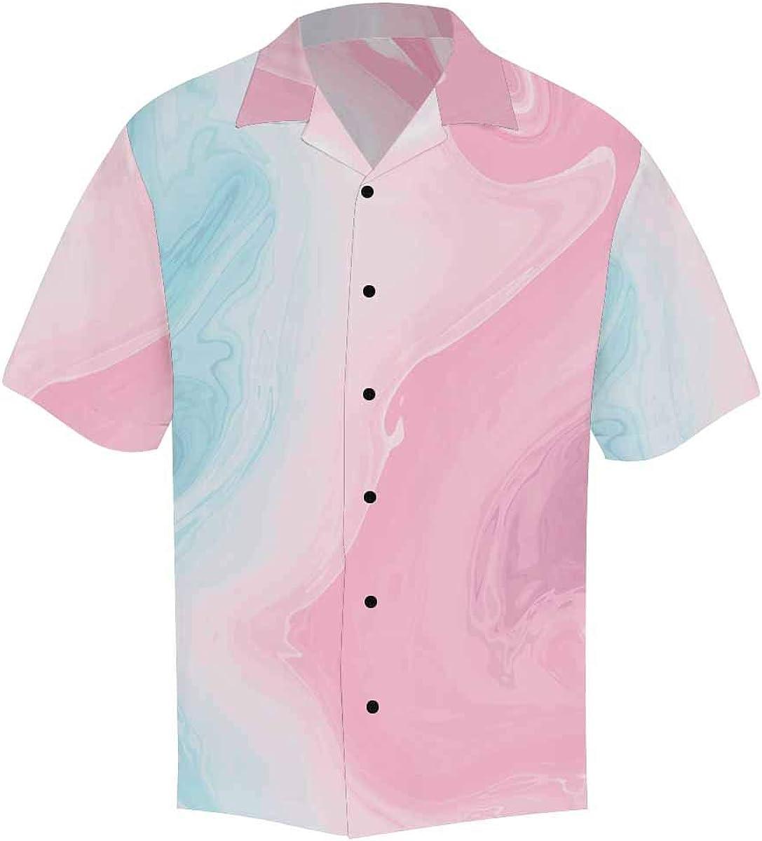 InterestPrint Men's Casual Button Down Short Sleeve African Tribal Boho Ethnic Hawaiian Shirt (S-5XL)
