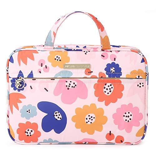 Tuscall Beauty Case da Viaggio Donna Borsa da Toilette da Appendere Borsetta da Bagno Grande per Valigia, Bagagli a mano, Outdoor (Fiore rosa)