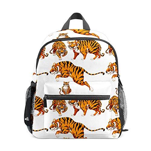 Mini mochila para niñas con múltiples saltos de tigre y sonrisa, mochila pequeña para mujer, bolsa de viaje de 12 pulgadas, bolsa de escuela para niñas y niños