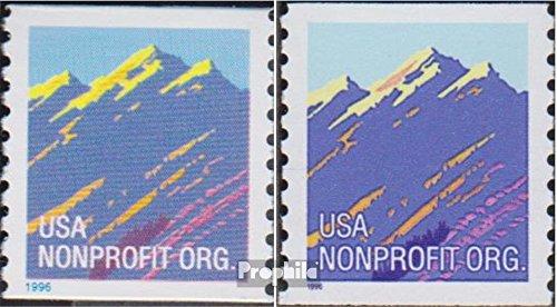 Prophila Collection Stati Uniti 2701I,2701II (Completa Edizione) 1996 Francobollo - Gebirgszug (Francobolli per i Collezionisti) paesaggi