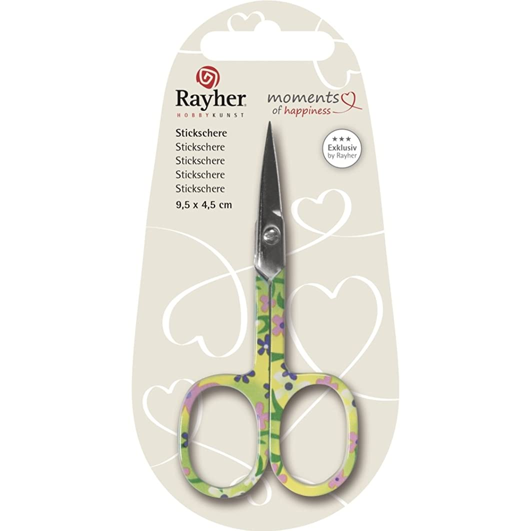 Rayher Tab Blister Embroidery Scissors, Plastic, Multi-Colour, 9.5 x 4.5 cm, 1-Piece