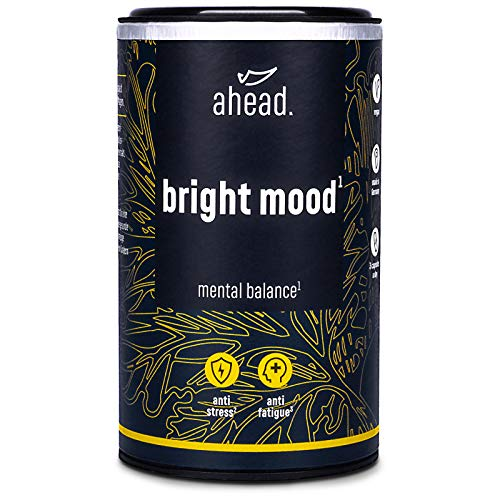 ahead Bright Mood | Natural Mood Enhancer with VIT B6 and B12 for Balance and Well-Being* | Supplement with Serotonin Precursors 5-HTP, L-Tryptophan, B-Vitamins and Relaxing Herbs | 90 Vegan Capsules