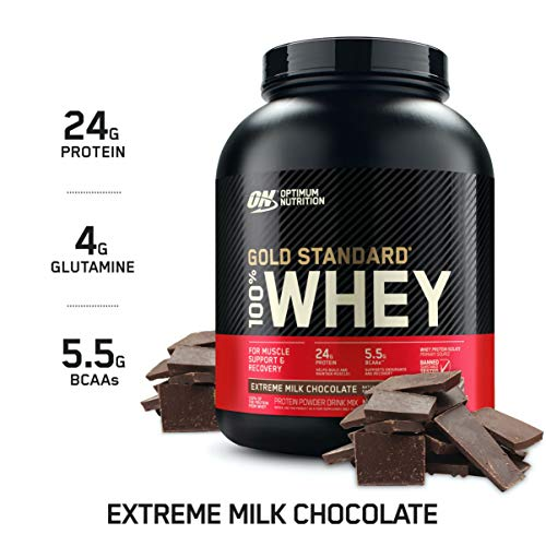 Optimum Nutrition Gold Standard 100% Whey Protein Powder, Extreme Milk Chocolate, 5 Pound (Packaging May Vary) Maryland