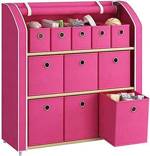 Wooden Dresser Storage Tower,Rustic Retro 4 Drawer Vertical Fabric Storage Unit for Bedroom, Hallway, Entryway, Closet,Nursery Room,Bathroom,Brown(Patent Pending)