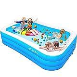 efubaby Inflatable Pool, 95' X 56' X 22' Kid Pools Inflatable...