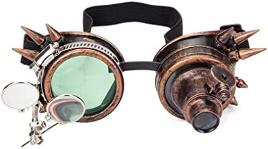 Lelinta Victorian Style Steampunk Goggles Ocular Loupe Eyewear Costume Accessory