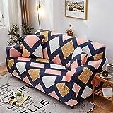 KKDIY Funda de sofá elástica geométrica de Cuatro Estaciones Funda de sofá seccional elástica con Forma de Cuadros para...