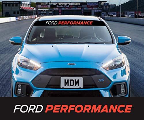 CELYCASY Ford Performance Sonnenstreifen Sonnenstreifen Windschutzscheibe Aufkleber Aufkleber Universal Focus Fiesta Mondeo KA