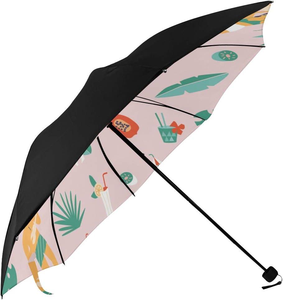 Ladies Max 65% OFF Compact Umbrella Rare Summer Hawaii Pr Holiday Underside Beach