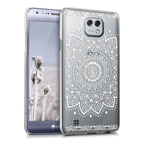 kwmobile Hülle kompatibel mit LG X Cam - Handyhülle - Handy Hülle Blume Weiß Transparent