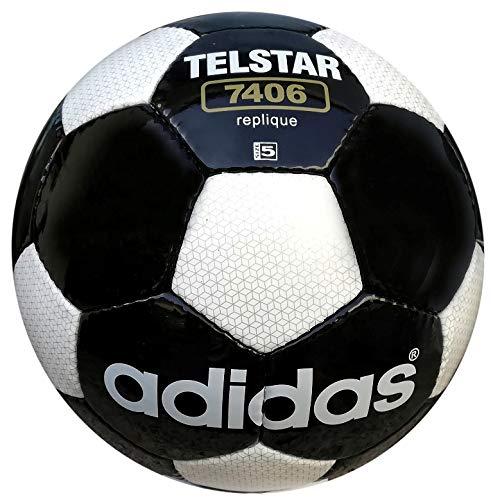 adidas Telstar 7406 - Réplica de la Copa Mundial de Fútbol, color blanco y negro