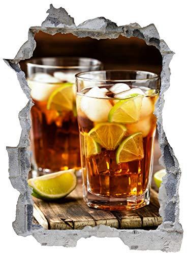 Cuba Kuba Libre Getränk Cocktail Wandtattoo Wandsticker Wandaufkleber E0691 Größe 46 cm x 62 cm