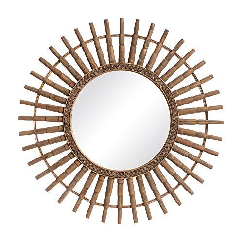 Espejo Sol Natural de bambú, exótico, de Ø 80 cm - LOLAhome