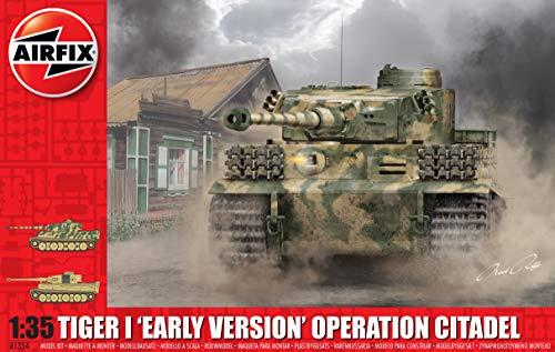 Airfix Tiger I Early Version Operation Citadel 1:35 WWII Military Tank Plastic Model Kit A1354