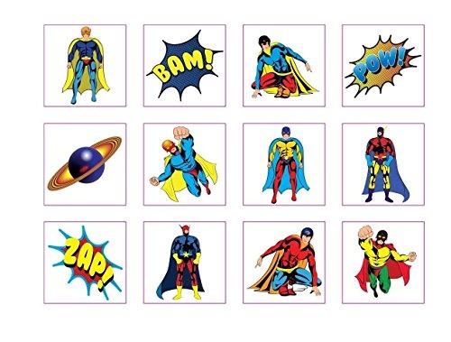72 temporäre Superhelden-Tattoos für Kinder, toller Artikel für Partys, z. B. als Piñata-Füllung