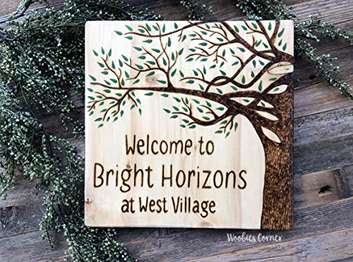 Nat999Lily Personalized Welcome Sign Wood Burned Sign Welcome Sign Front Door Business Welcome Sign...