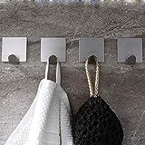 Ganchos de baño y Cocina Baño gancho pared de la cocina clave colgador de pared de acero inoxidable 304 Escudo Sistema for colgar a la toalla ganchos for la ropa 4pcs / set
