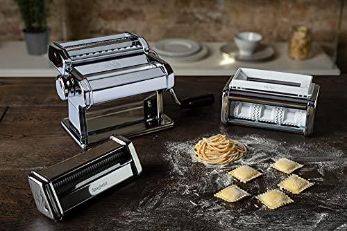 Pastaset, Machine à Pâtes Manuelle avec Accessoires Ravioli et Spaghetti inclus