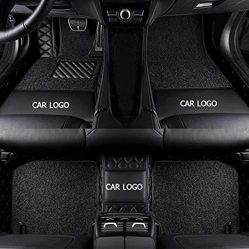 JINRYIGK Custom Logo Car Floor mats for Renault captur Megane Scenic kadjar Fluence Laguna koleos Espace Talisman Latitud Foot,Black 2 Layers
