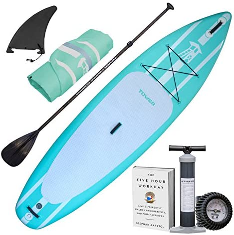 Tower Inflatable 10 4 Stand Up Paddle Board 6 Inches Thick Universal SUP Wide Stance Premium product image