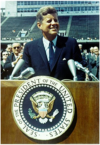 President John F Kennedy Speech Color Archival Photo Poster 13 x 19in