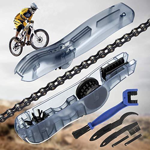 TOLIANCLE Fahrrad Kettenreinigungsgerät Kit Fahrradkettenreiniger Reinigung Scrubber Pinsel-Werkzeug Ketten Reinigung Gerät Maintenance, Geeignet für alle Arten von Fahrrädern