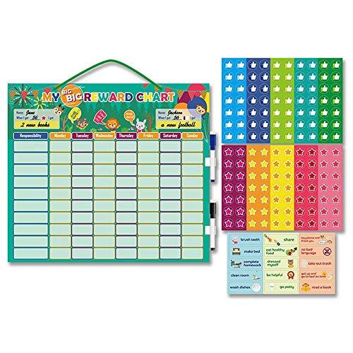 Behavior Reward Chart Durable Magnetic Responsibility Calendar for Multiple Kids Toddlers at Home School Kindergarten Preschool Chores Chart (Behavior Reward Chart)
