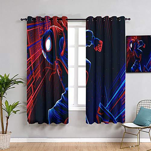 Sdustin Kids Curtain spider-man illustration,for Bedroom,Nursery,Living Room 62'x72'