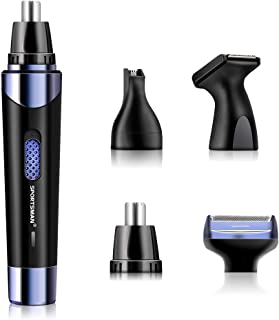 Nose Hair Trimmer for Men,2019 Professional USB Rechargeable Eyebrow and Ear Hair Trimmer,Stainless Steel Blades Waterproof System,for Nose, Ears and Eyebrows