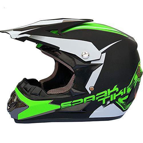 Helm Motocross Jungen Mädchen Cross Crop Motorrad Set Mit Gläsern Maske Handschuhe,...