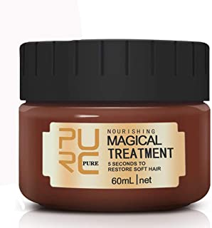 Magical Hair Treatment Mask, Advanced Molecular Hair Roots Treatment 5 Seconds Repairs Damage Hair Roots Deep Conditioner Recover Elasticity Hair for Dry or Damaged Hair 60ML