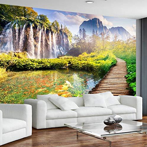 Vlies 3D wandschilderijen natuurlandschap 3D fotobehang woonkamer TV achtergrond wandschilderij behang 350cmx245cm