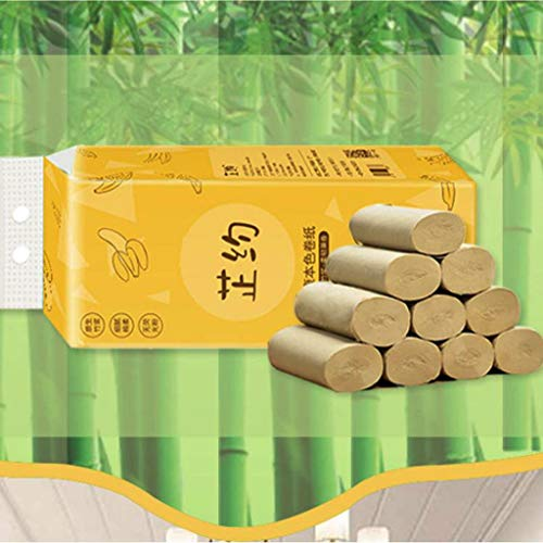 Somerl Toilettenpapierrollen 10 x Rollenpapier Familienrollenpapier Erschwingliches kernloses Toilettenpapier mit Spezialgewebe(28x16x12cm)