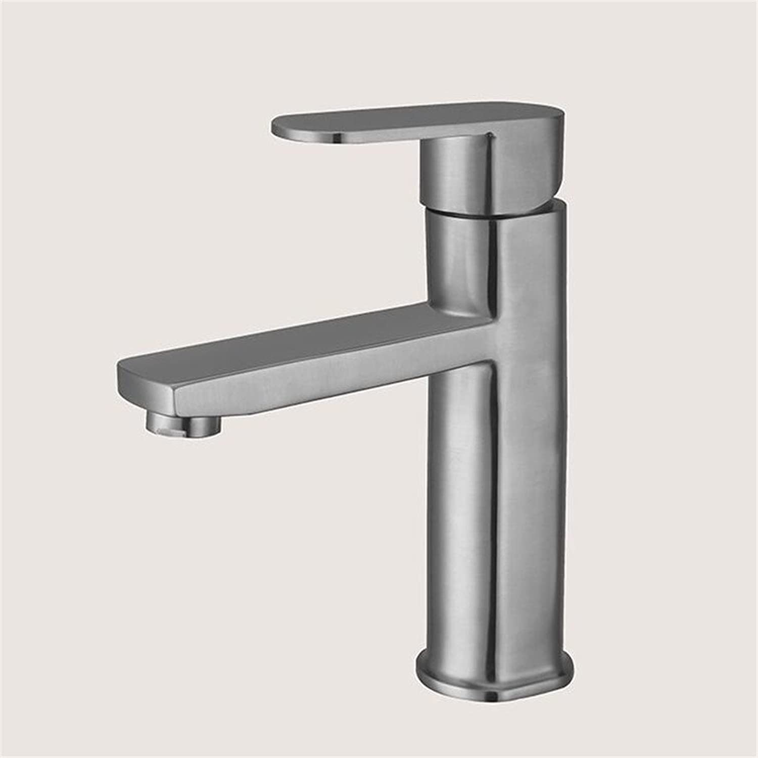 Hlluya Professional Sink Mixer Tap Kitchen Faucet Cold water faucet Bathroom Cabinet basin modern cold water faucet stainless steel Faucet
