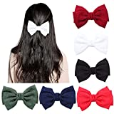ZTTT Bow Hair Clips Gossip Girl Style Three-Layer Chiffon Bow Hairpin(Six Pieces)