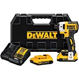 DEWALT 20V MAX XR Impact Driver Kit, Brushless, 3-Speed, 1/4-Inch, 2.0-Ah (DCF887D2)