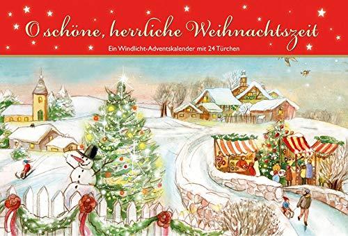 O schöne, herrliche Weihnachtszeit. Ein Windlicht-Adventskalender mit 24 Türchen