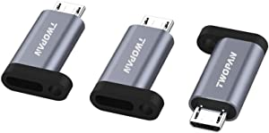 TWOPAN ACM3 USB C Female to Micro USB Adapter, Compatible with Smartphones,Power Chargers and Power Banks, Work with More Devices with Standard Micro USB Port, Space Gray. 3 Pieces.