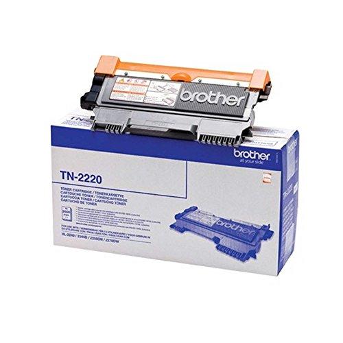 2X BROTHER TN2220 original Toner - Doppelpack schwarz Fuer HL-2240 2240D 2250DN 2270DW MFC-7360N,-7460DN,-7860DW, DCP-7060D 2600 Seiten NEU