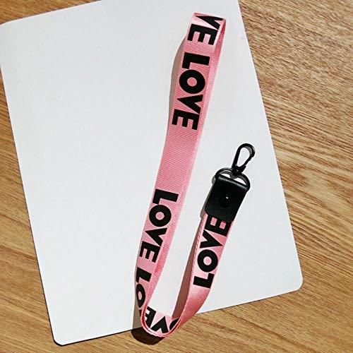 1PCS Key vlechten voor de belangrijkste hanger ring mannen vrouwen heuptas,lange roze