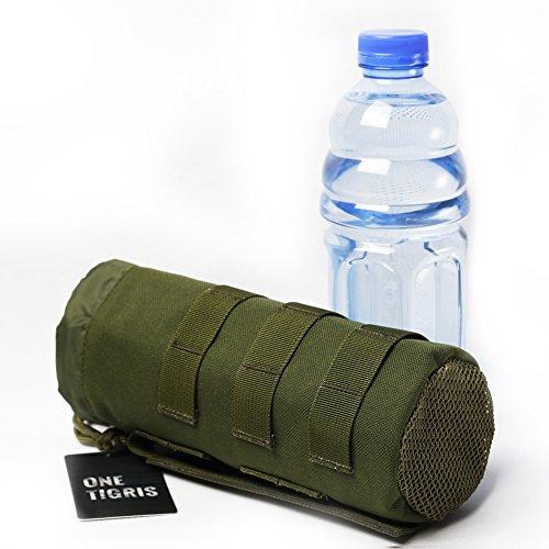 OneTigris アウトドアボトル用ポーチ ナイロンボトルケース ペットボトルホルダー MOLLE対応(グリーン)