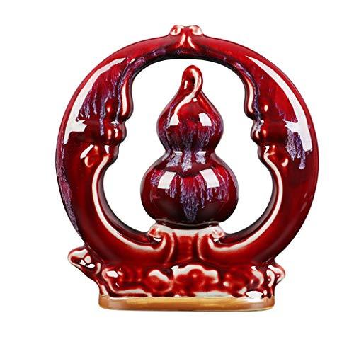 YSMLL Jarrón de Porcelana Fuzhongfu Horno de Calabaza se Convierte en Rojo Jun Porcelana Inicio Sala de Estar Vino Decoración Decoración Decoración de artesanía